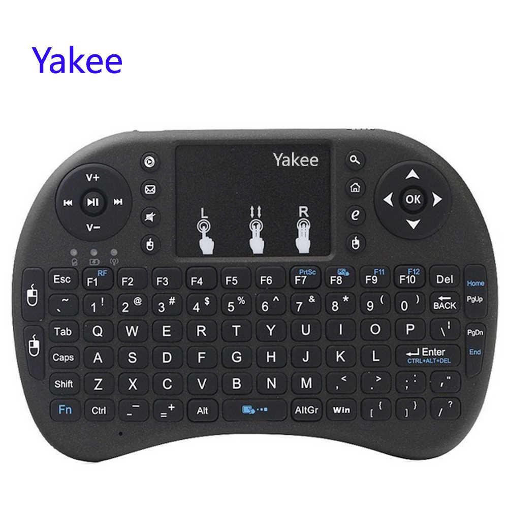 I8 clavier 2.4GHz clavier sans fil avec pavé tactile mouche Air souris télécommande pour Android 9.0 TV BOX HK1 max h96 max x88 Pro