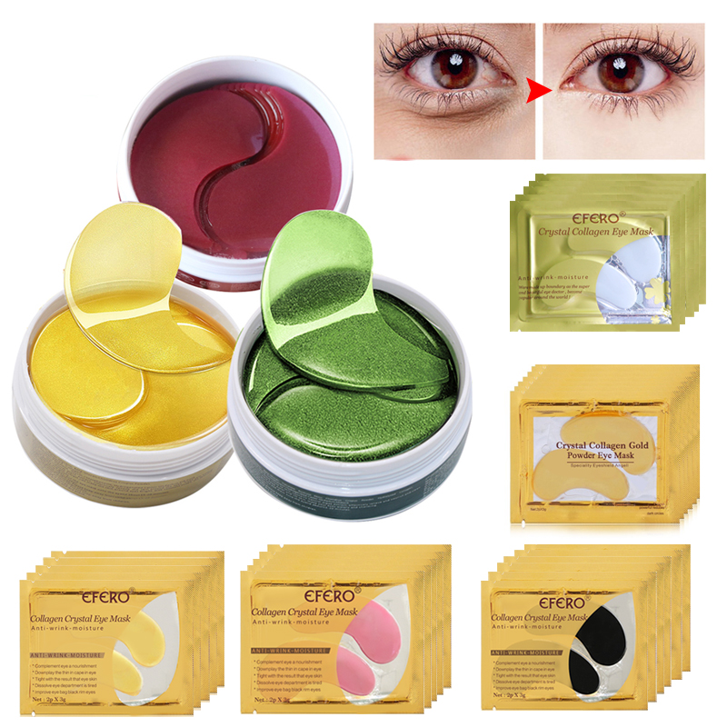 60 unids / botella EFERO Máscara de Ojo de Colágeno Anti Arrugas - Cuidado de la piel - foto 1