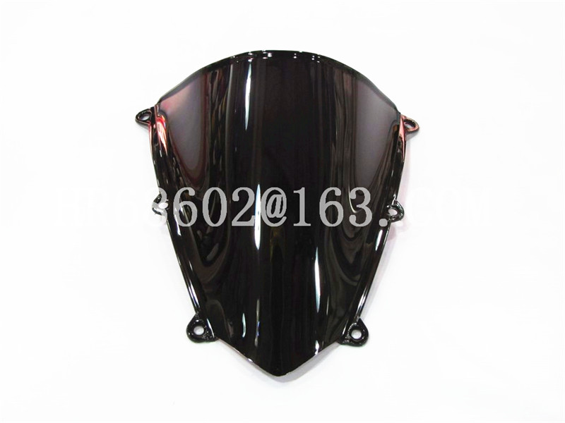 For Honda CBR 600 RR F5 2007 2008 2009 2010 2011 2012 Sort Vindskærm WindScreen Dobbeltboble cbr600 CBR600 CBR600RR