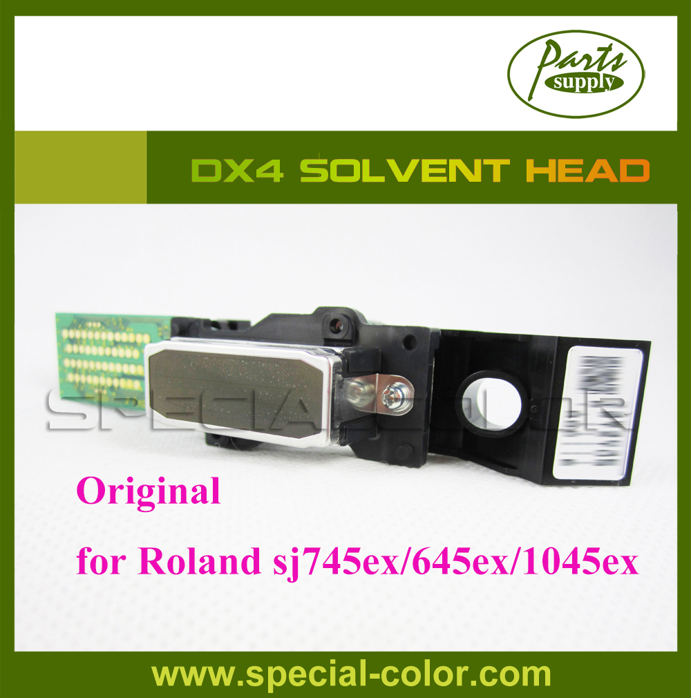 где купить Roland SJ745ex/645ex/545ex/1045ex Original Solvent DX4 Printhead (Get 2pcs DX4 Small Damper as Gift) дешево
