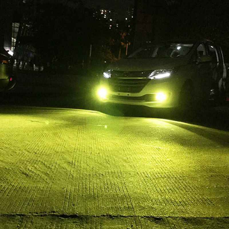 2PCS 12V 100W 1000LM Gold Light 4300 K Fog Light Car Night Lights Front Sides Lights Bright Strong New