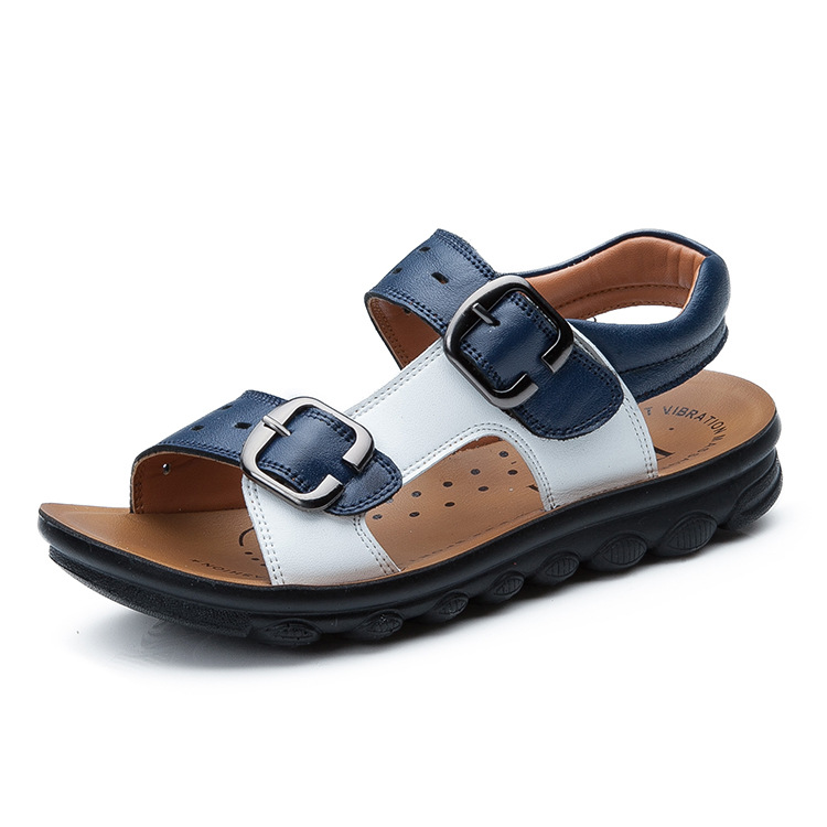 2018 high quality New Boys shoes Genuine Leather Children sandals Summer sandals Casual outdoor shoes breathable sandals