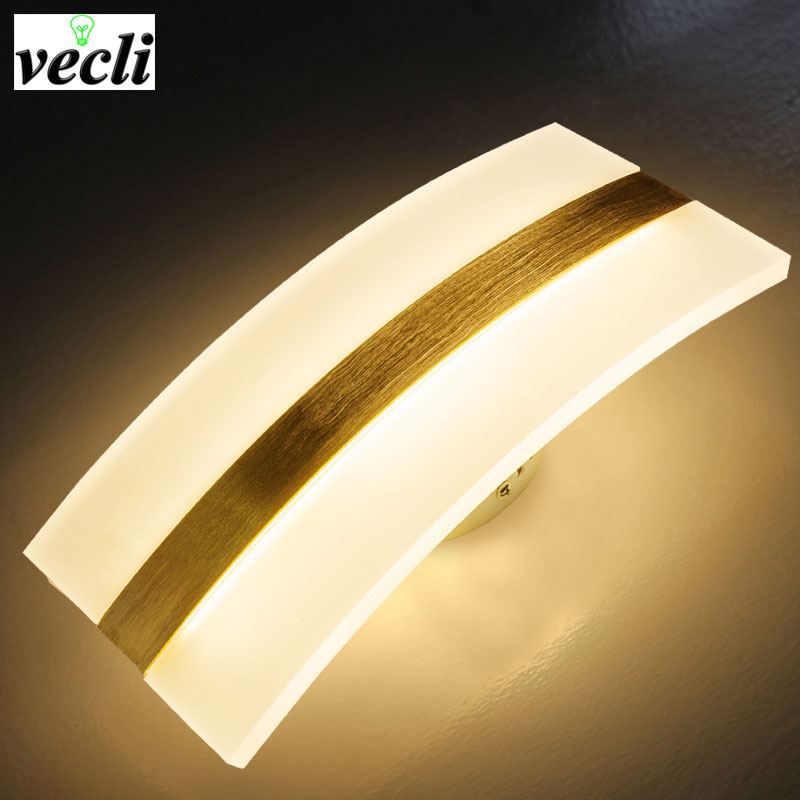 Modern LED lamp bedside simple living room bedroom lamps balcony hotel stair aisle wall light indoor lighting creative sconce