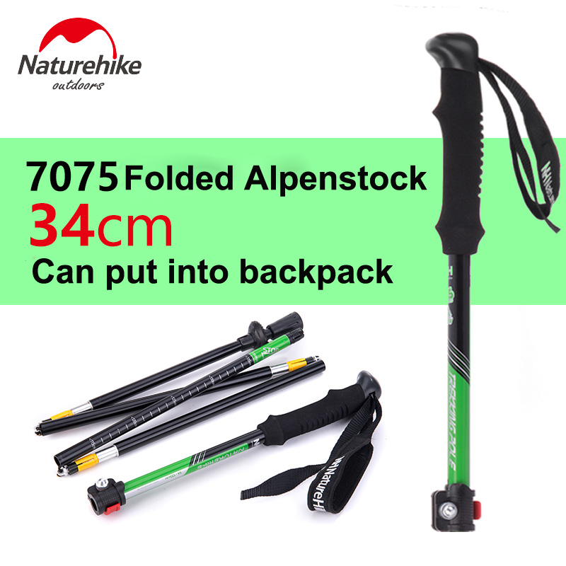 Naturehike 1pcs Naturehike Alpenstocks Ultralight Trekking Pole Polo - Camping y senderismo