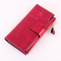 Artmi Women's Large Capacity Wallet with Zipper Pocket and ID Window