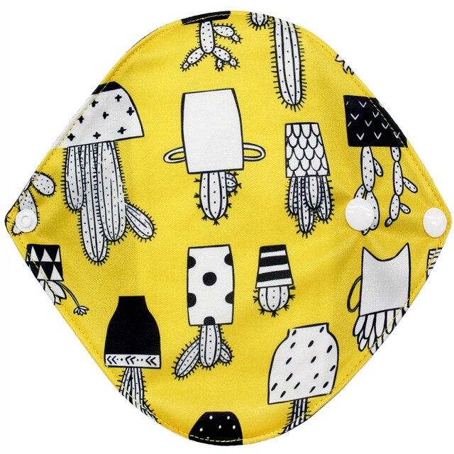 Ốp thiết kế dễ thương in Có Thể Tái Sử Dụng Tre Vải Có Thể Giặt Kinh Nguyệt Miếng Lót Mama Khăn Vệ Sinh Miếng Lót thoải mái sinh lý # Y40