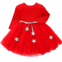 Baby Girls Sweater Dress With Star Infant Girl's Christmas Costume Children Clot