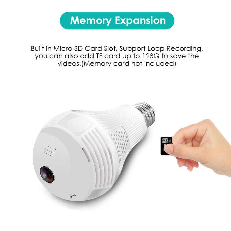 960P WiFi IP Camara 360 градусов панорамный беспроводной светильник Лампада видеонаблюдение Espia Домашняя безопасность широкоугольная мини-камера