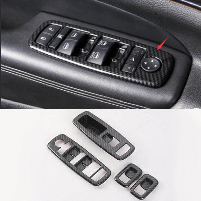 ABS Matt Interior Door Cover Armrest Trim 4pcs for Jeep Grand Cherokee 2011-2015