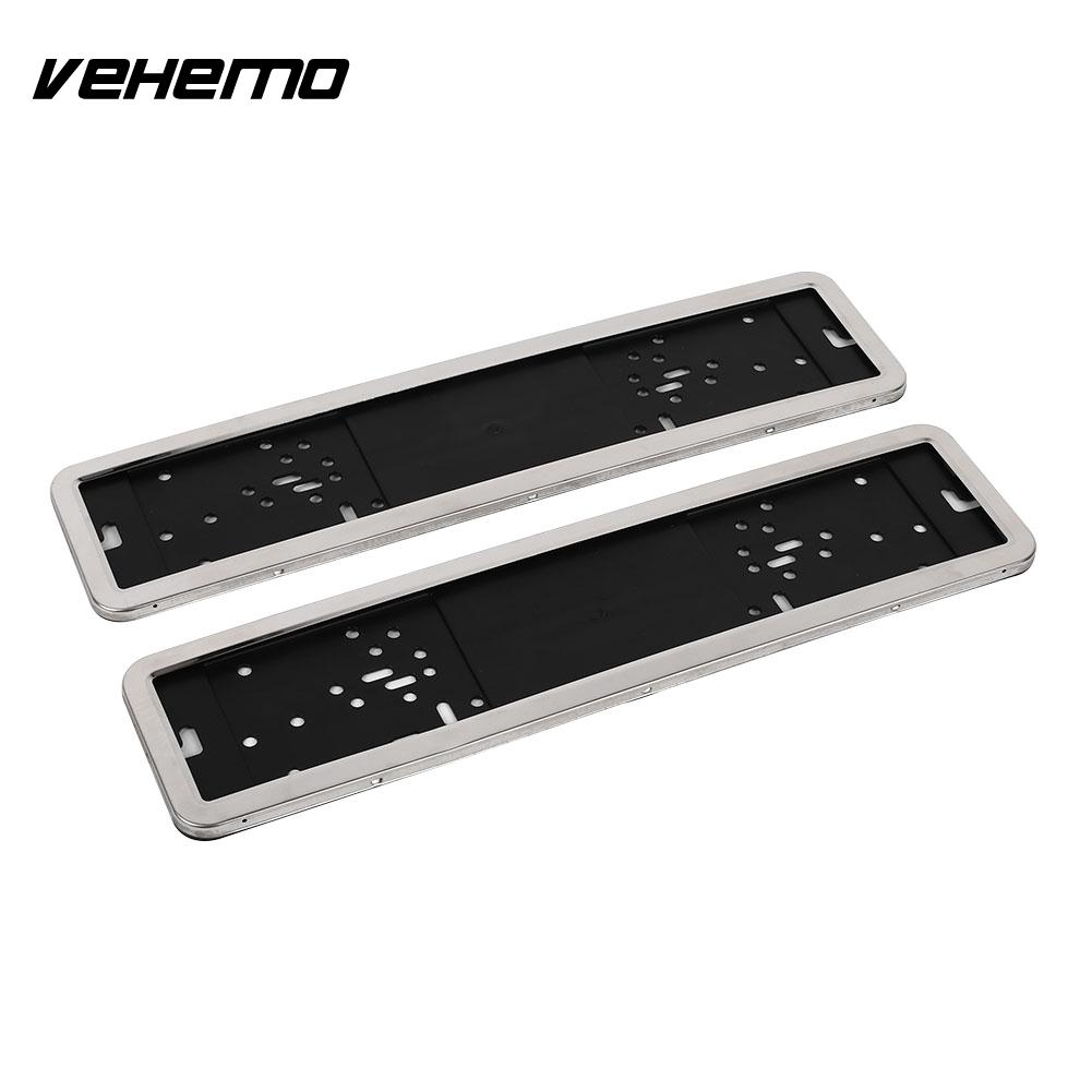 Auto Car Vehicle Truck Steel Plastic Number License Plate Frame Holder Case Steel Vehicle Parts Kit Gadget