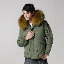 Большой размер 9 цветов теплая зимняя куртка мужская меховая куртка с капюшоном Размер S-4XL