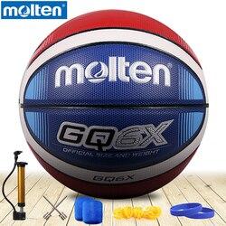 original molten basketball ball GQ6X/GQ5XNEW Brand High Quality Genuine Molten PU Material Official Size6/5 Basketball