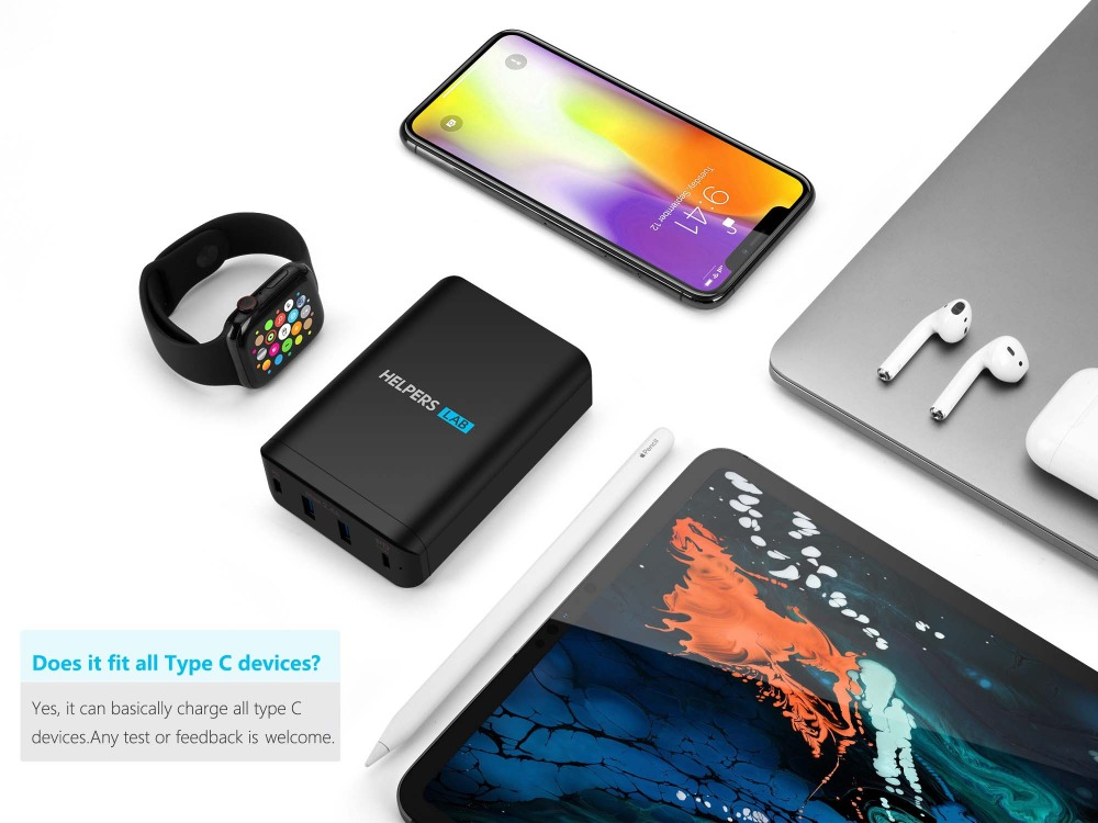 Image 5 - Dual USB C port 60W & 18W and Dual 5V 2.4A USB Port ,for many type c Phone and Laptop like iPhone Macbook etc-in Phone Adapters & Converters from Cellphones & Telecommunications