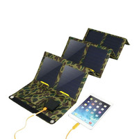 Outdoors SunPower 26W Solar Cells Charger 5V 2.1A USB*2 Devices Portable Solar Panels for Smartphones Laptop