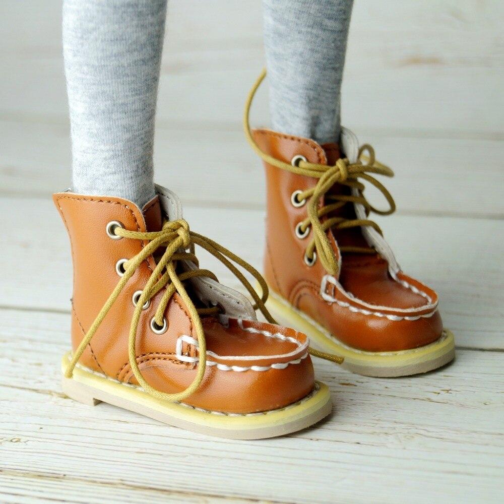 "BJD SHOES Short Boots Shoes Flates For 1/4 17"" 44Cm Tall BJD doll MSD DK DZ AOD DD Doll Free shipping"