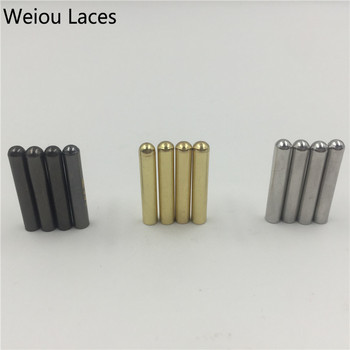 Offical Weiou 20pcs/Lot 3.8x22mm Metal Shoelaces Repair Tips Head Aglets Seamless DIY Replacement Sneaker Kits Silver Gold Black
