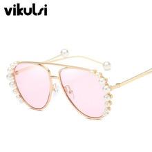 9a410cf731 Gafas de sol de lujo de perlas de diseño de marca 2018 para mujer, gafas de sol  para verano, gafas de sol para mujer, gafas de s.