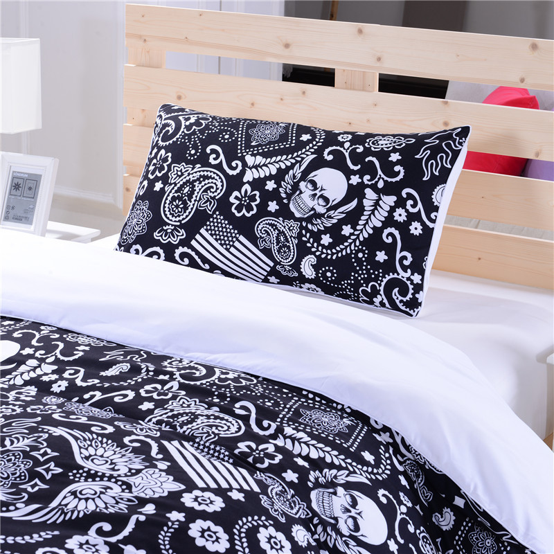 Aliexpress com   Buy Black and White Bedding Paisley American Flag Bedding  Skull Bedding New Hot Duvet Cover Set Twin Full Queen from Reliable flag  magnet. Aliexpress com   Buy Black and White Bedding Paisley American Flag