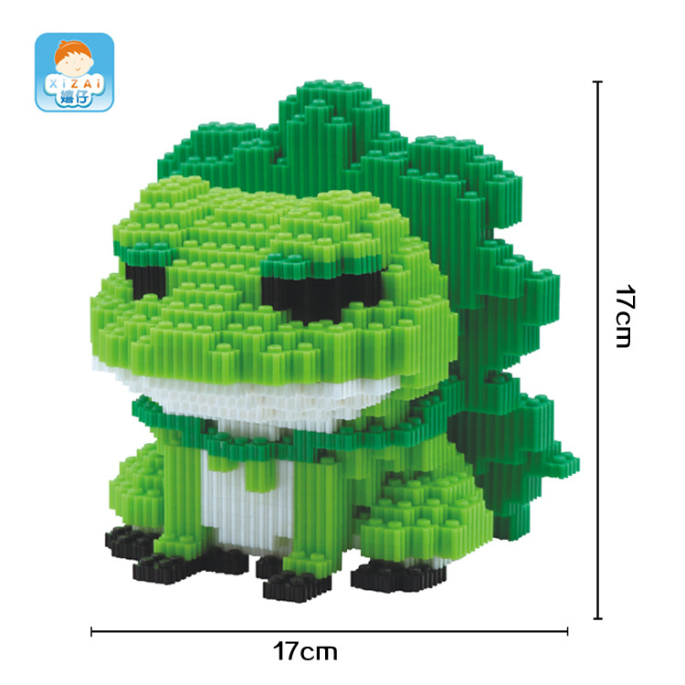 XIZAI Connection Blocks Big size Frog Model Building Bricks Auction Figure Japanese Game Character Juguetes Toys Kids Gifts 8023