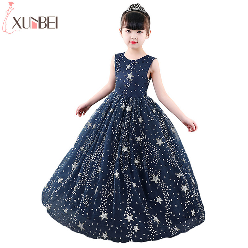 New Star   Flower     Girl     Dresses   2019 Pageant   Dresses   For   Girls   Kids Prom   Dresses   Communion   Dresses   vestidos infantil de festa