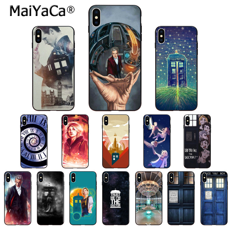 Phone Bags & Cases Case For Iphone 7 8 6 6s Plus 5 5s Se 5c X Xs Max Xr Silicone Coque Cases Cover Tardis Box Doctor Who