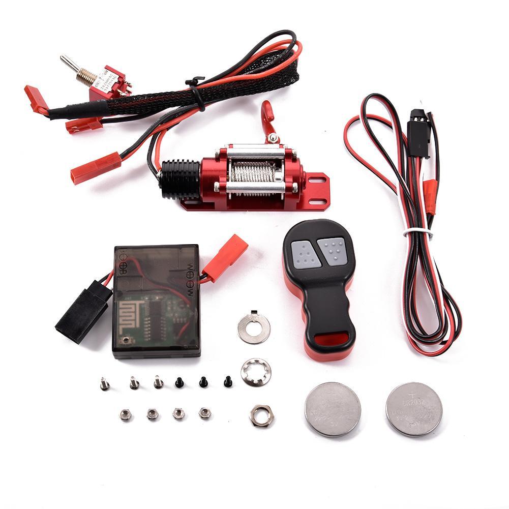 1 ~ 10 traxxas hsp redcat hpi tamiya cc01 rc 자동차 크롤러 용 수신기가있는 무선 원격 컨트롤러 금속 강철 윈치 시스템-에서부품 & 액세서리부터 완구 & 취미 의  그룹 1