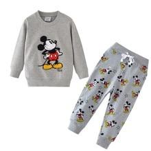 Spring Autumn Boys Clothing Set Baby boy Children Cartoon Sweatshirts Dinosaur 2pcs Kids Clothes Casual Suit