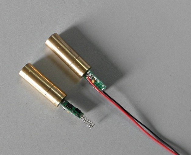 30mW adjustable focus 532nm Green laser diode module  diameter 12 x 55mm