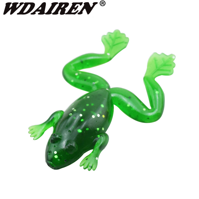 5/10pcs/lot Pesca Fishing Lures 5cm 3g Artificial Fishing Silicone Bait Frog Lure with Hook Soft Fishing Frog Lures WD-256 100pcs lot artificial fishing lure bionic fish soft bait fishy smell pesca fishing tackle lures 7cm 2 3g fishing bait