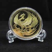 2019 New Japan Golden Phoenix Chrysanthemum Metal Coins Souvenir Art Gold Coin Collection Gift Dia 40MM