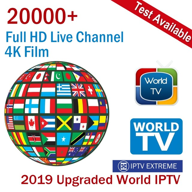 US $7 94 |2019 Upgraded Worldwide M3U IPTV Subscription 20000 Live Channels  Full HD 4K Films for Italy UK France German Denmark Sweden-in Set-top