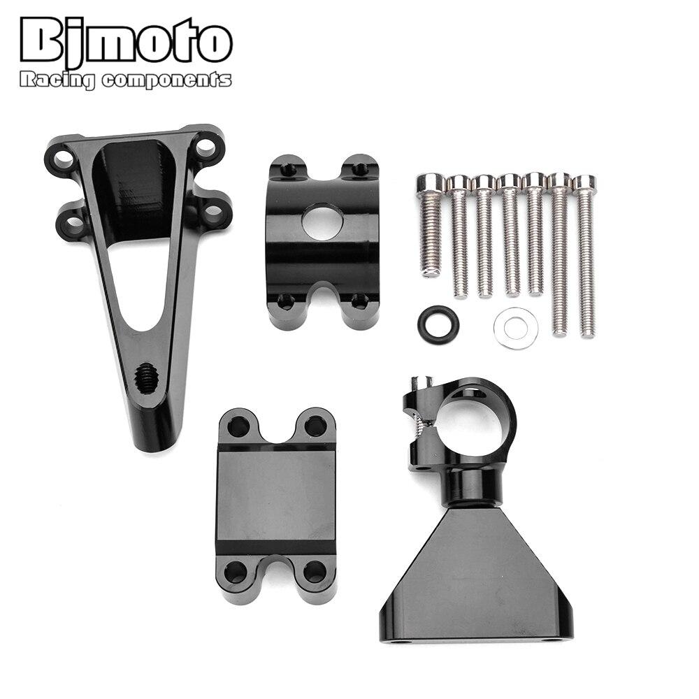 Bjmoto pour Honda CBR600 F4i 1999-2004 CNC réglable moto CBR 600 support d'amortisseur de direction stabiliser Kit de montage