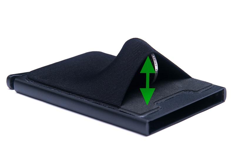Credit Card Holder Case Aluminum Wallet With Elasticity Back Pocket RFID Thin Metal Wallet Business ID Card Holder 25