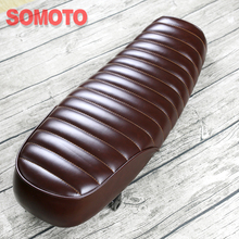640mm Universal Vintage motorcycle Seat  Cover Flat Stripe Motorcycle Cushion Brown Black color