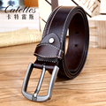 Catelles Male Full Grain Leather Strap Men High Quality Belt For Man Genuine Leather Betls Jeans belt Pin buckle