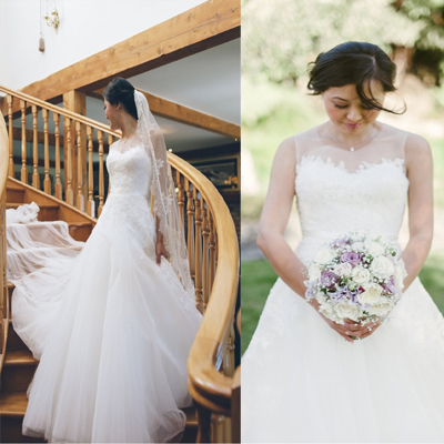 customized new design vestido de noiva aline floor length vintage appliques tulle lace up backless wedding dress online