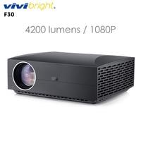 Original VIVIBRIGHT F30 LCD Projector Home Entertainment Commercial FHD 1920 x 1080P 4200 Lumens