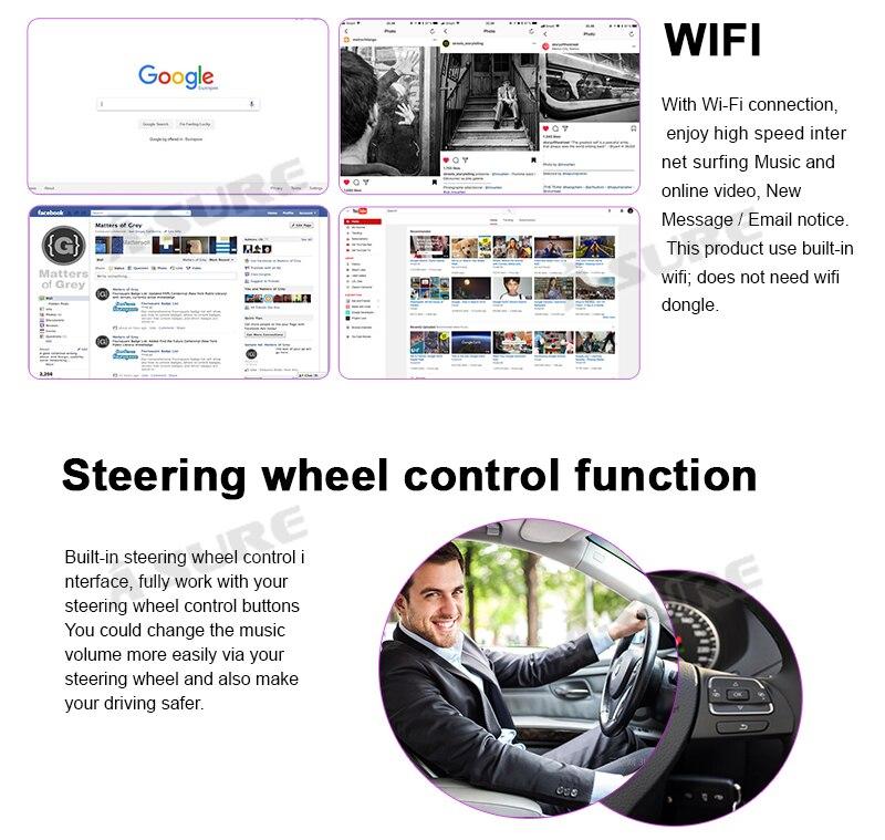 Android 9.0 VW Golf Transporter Passat 2 Din GPS DVD DAB+ WiFI 75