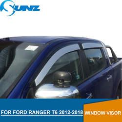 Серебристые окна козырек для Ford Ranger T6 2012-2018 сбоку оконные дефлекторы Дождь гвардии для Ford Ranger T6 2012-2018 SUNZ