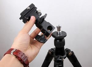 Image 5 - Camera Flash Light Hot Shoe Adapter with Umbrella Hole Tripod Light Stand Bracket Holder Mount SB600 580EX YN560 Speedlite (B)