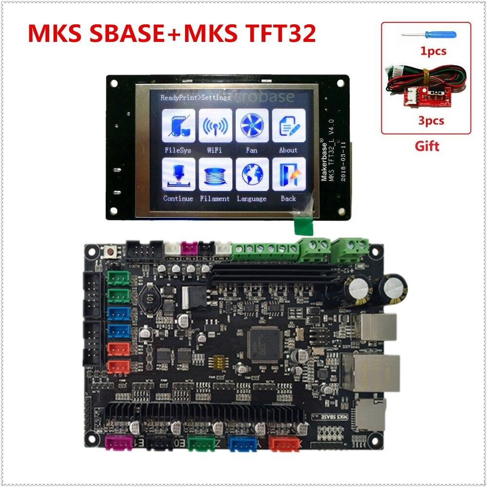 MKS SBASE + MKS TFT32 V4.0 pantalla 3D impresora kits controlador integrado microcontrolador ARM Cortex smoothieboard Smoothieware