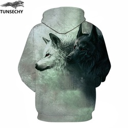 TUNSECHY Wolf Printed Hoodies Men 3D Hoodies Brand Sweatshirts Fashion Tracksuits Wholesale and retail Free transportation 6