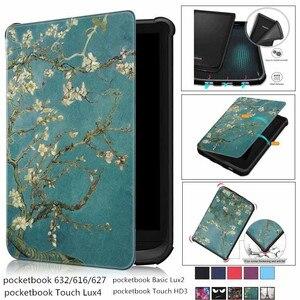 Новый мягкий магнитный чехол для PocketBook 616 627 632 умный чехол для PocketBook Touch Lux 4 Funda Basic Lux 2 Touch HD 3 Funda Case