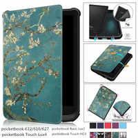 Nouveau étui à aimant souple pour livre de poche 616 627 632 couverture intelligente pour livre de poche tactile Lux 4 Funda Basic Lux 2 Touch HD 3 Funda étui