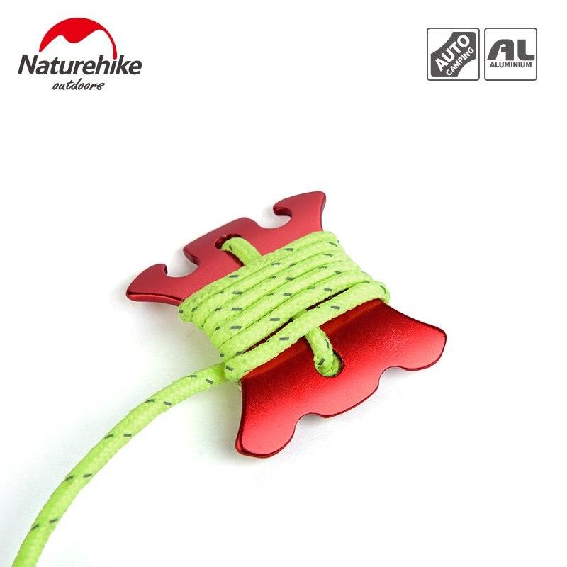 NHoutdoorbackawindropebucklearcwindingrope device pull rope check slide adjustment piece bundled buckle plus 12 meters wind rope