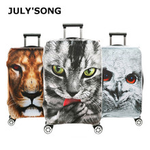 JULY'S SONG Suitcase Protective Covers 18-32''Travel Accessories Waterproof Luggage Cover Elastic Trolley Case Cover fire and fire series print travel luggage suitcase protective cover stretch waterproof portable luggage covers rain cover
