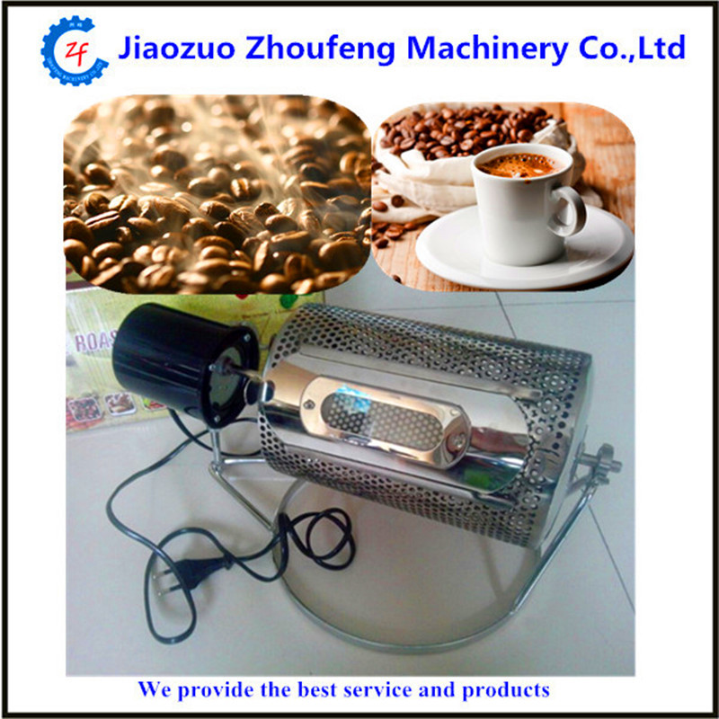 Elektrikli kahve kavurma makinesi mini ev kullanımı paslanmaz çelik kahve çekirdeği kavurma pişirme tohumları fındık 220 v / 110 V ZF