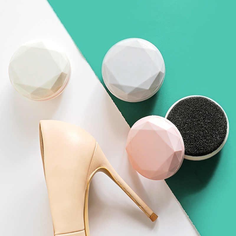 Portátil Shoee Wipes Escova Double-Sided Esponja Sapato Polonês Incolor Sapato Sapatos de Limpeza de Descontaminação de Couro Mais Limpo