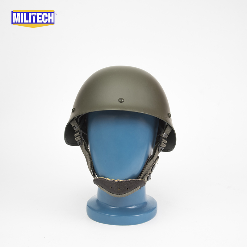 Militech Oliver Drab OD Green French F1 Model 1978 Version Steel Paratrooper High Quality Repro Collection Helmet ca arsenal slr105 a1 steel version
