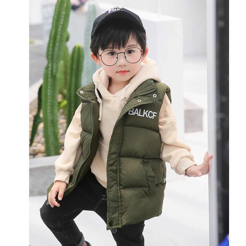 2019 жилеты без рукавов для мальчиков куртка девочек модные топы пальто детский